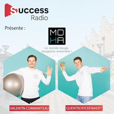 Valentin Commarteau et Quentin Ryckewaert créateurs de MOHA (My Own Healthy Activity) cover