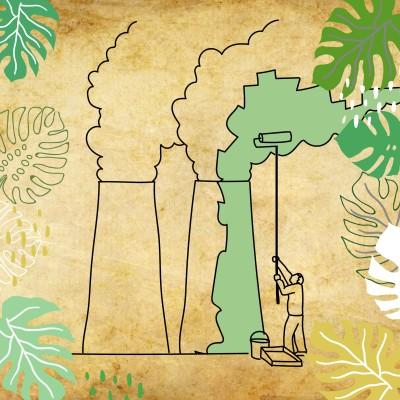 Greenwashing : quand les destructeurs de la planète prétendent la sauver cover