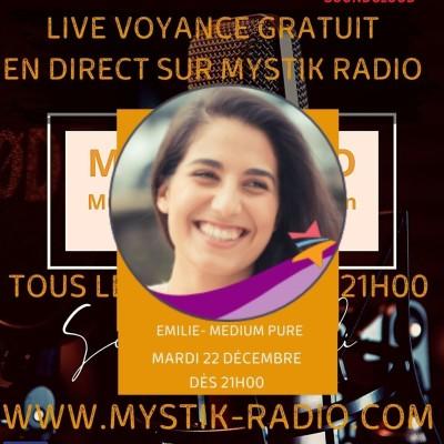Live voyance gratuite Emilie médium spirit et cartomancienne chez Infinità Corse Voyance cover