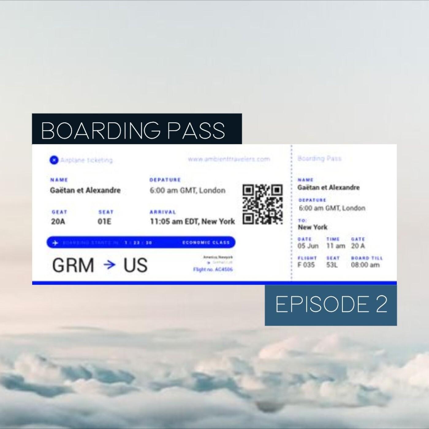 Boarding Pass 002 ✈️ Moby et Dear Gravity