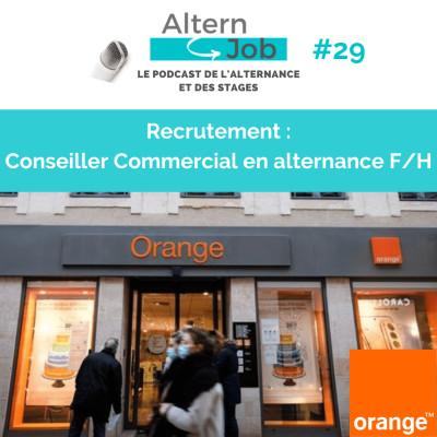 Orange recrute des Conseillers Commerciaux F/H en alternance - EP29 cover