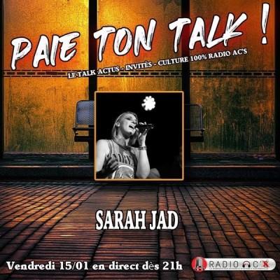 """Paie Ton Talk"" du 15/01/21 Invitée Sarah Jad cover"