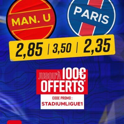Champions League J5 : Manchester United - PSG (les paris sportifs avec Betclic) cover