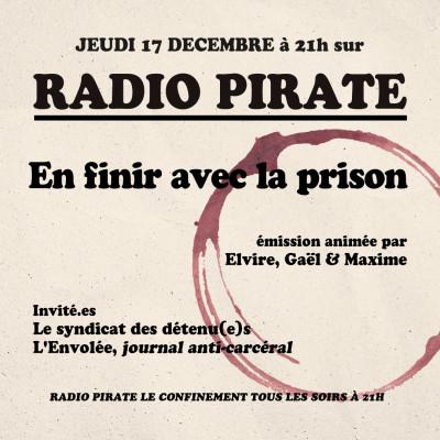 Radio Pirate - En finir avec la prison - Emission du jeudi 17 décembre cover