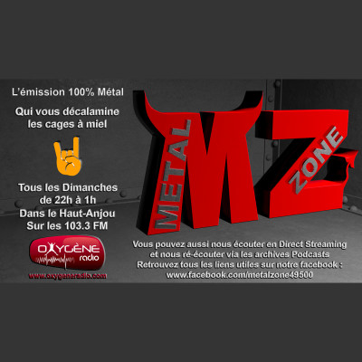 Image of the show METAL ZONE - Oxygène Radio