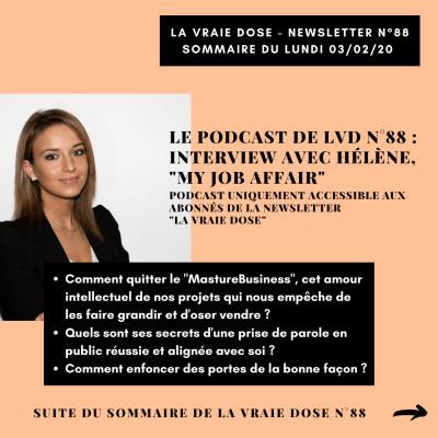 image LVD 88 - Au Café LVD avec Hélène My Job Affair - Sortir du MastureBusiness : bousculer le projet que l'on idolâtre tant et le faire grandir
