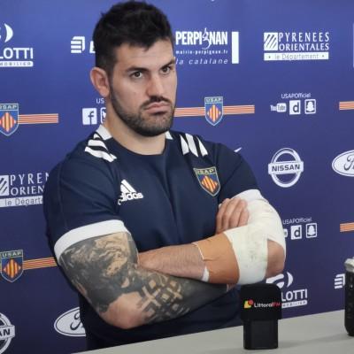 Lucas Bachelier avant le match contre Provence Rugby. cover