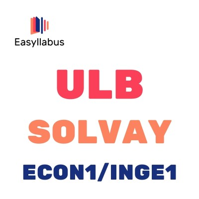 ULB - BAC 1 - SOLVAY ECON1/INGE1 cover