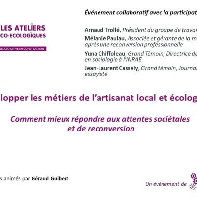 Atelier co-ecologique / Développer les métiers de l'artisanat local et écologique cover