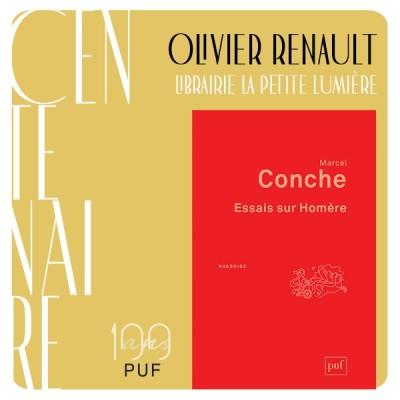 """Olivier Renault présente """"Essais sur Homère"""" de Marcel Conche cover"""