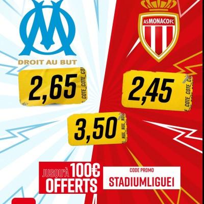 J14 : OM - AS Monaco les paris avec @betclic cover