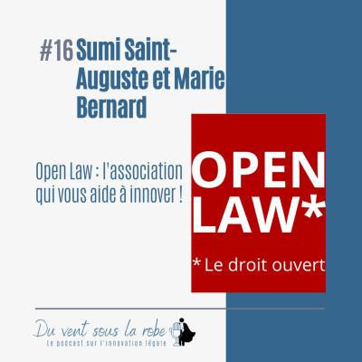 Sumi Saint-Auguste et Marie Bernard – Open Law : l'association qui vous aide à innover ! cover