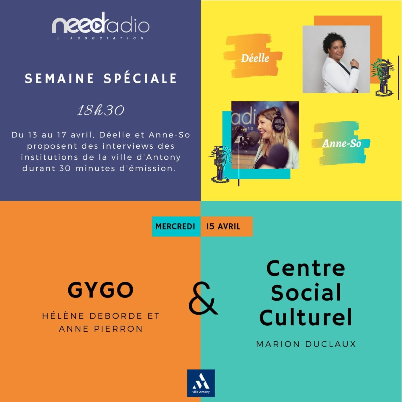 #NRVDLP spéciale confinement - GYGO et le Centre Social et Culturel (15/04/20)