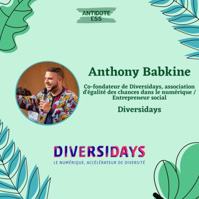 Le numerique, accélérateur de diversité - Anthony Babkine - Diversidays cover