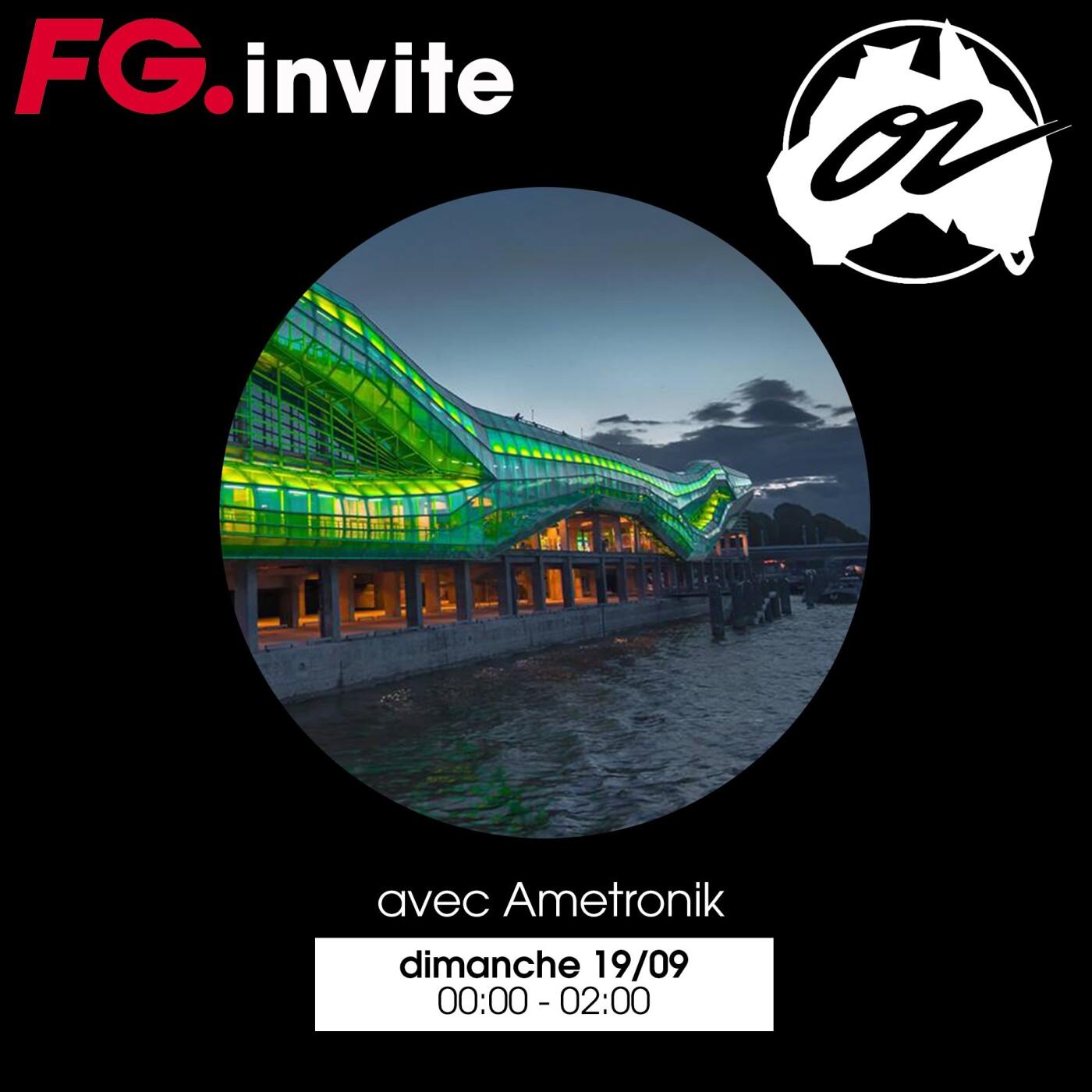 FG INVITE : LE CAFE OZ AVEC AMETRONIK