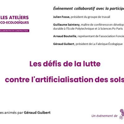 Atelier CO Ecologique / Les défis de la lutte contre l'artificialisation des sols cover