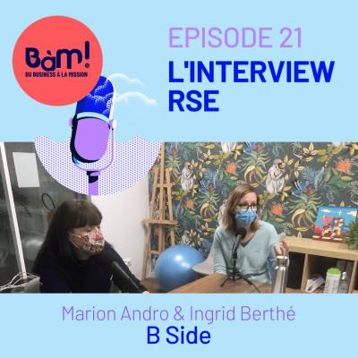#21 L'Interview RSE– L'Agence B Side milite et agit pour une communication utile cover
