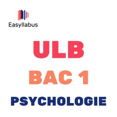ULB - BAC 1 - Psychologie cover