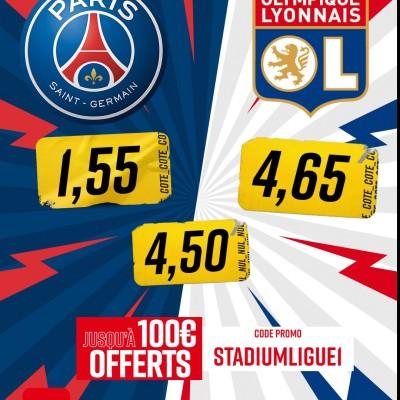 J14 : PSG - OL les paris avec @Betclic cover