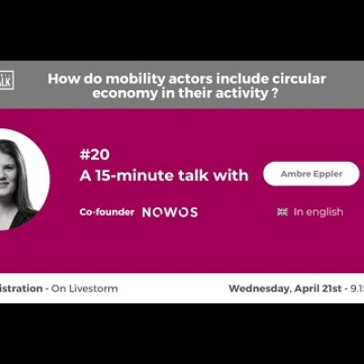 April Talk #20 Circular economy and lithium batteries with Ambre Eppler (Co-founder of Nowos) cover