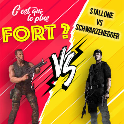 image Arnold Schwarzenegger vs Sylvester Stallone, le match des stars de l'action 80's