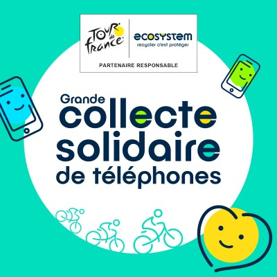 Tour de France 2020 : une collecte de téléphone menée par Ecosyste cover