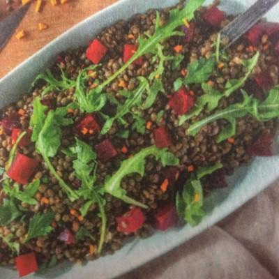 Salade de lentilles au curcum cover