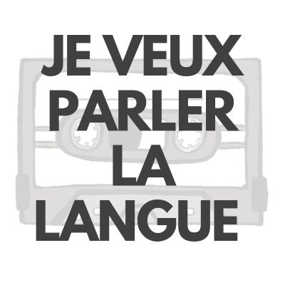image Je veux parler la langue