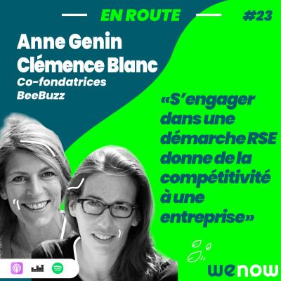 « S'engager dans la RSE donne de la compétitivité à une entreprise » avec Clémence Blanc & Anne Génin cover