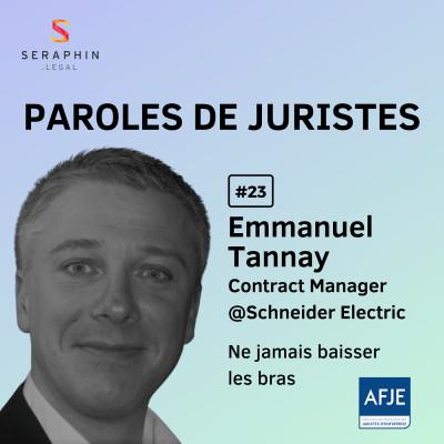 #23 - Emmanuel Tannay - Ne jamais baisser les bras cover