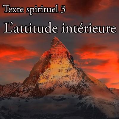 Texte spirituel 3 - L'attitude intérieure cover