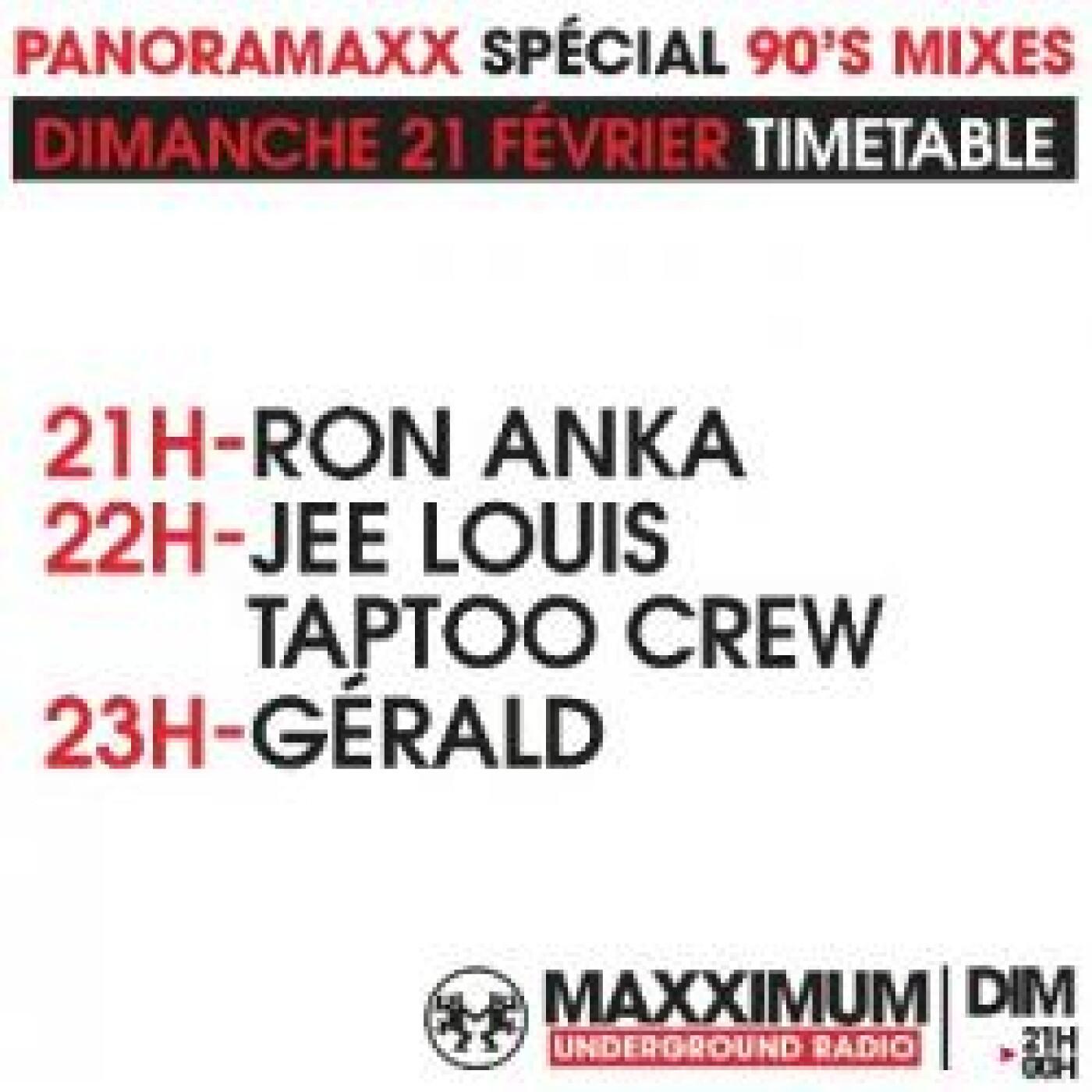 PANORAMAXX 90'S : JEE LOUIS TAPTOO CREW