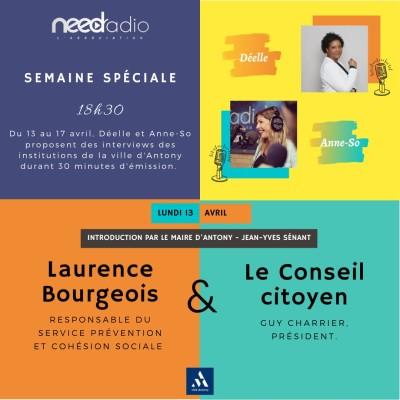 image #NRVDLP spéciale confinement - Jean-Yves Sénant (Maire d'Antony), Laurence Bourgeois et le Conseil Citoyen d'Antony (13/04/20)