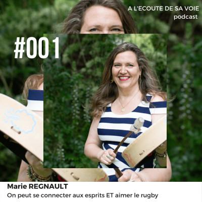 #001 Marie Regnault - On peut se connecter aux esprits ET aimer le rugby cover