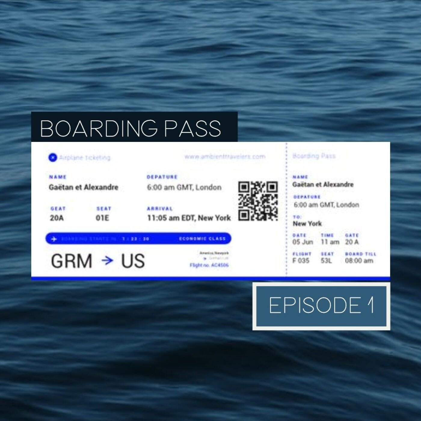 Boarding Pass 001 ✈️ Hammock et Luca Longobardi