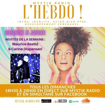 L'HEBDO ! L'émission animée par Sophie Vitali  reçoit Maurice Bastid et Carine Dispenseri du LABEL MB prod cover