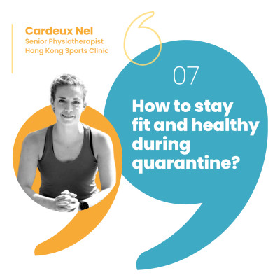 How can you stay fit and healthy in quarantine? cover
