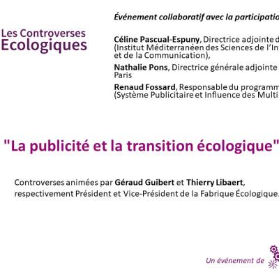 Les Controverses Ecologiques / La publicité et la transition écologique cover