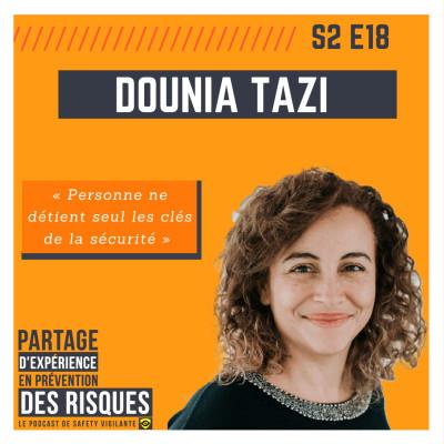 """S2E18 - Dounia TAZI - """"Personne ne détient seul les clés de la sécurité"""" cover"""