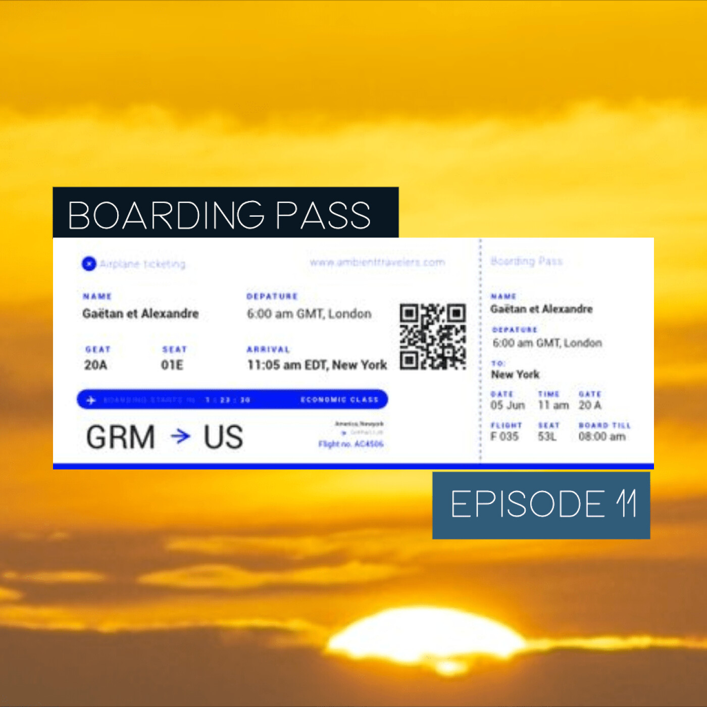 Boarding Pass 011 ✈️ Ana Roxanne et Belorusia