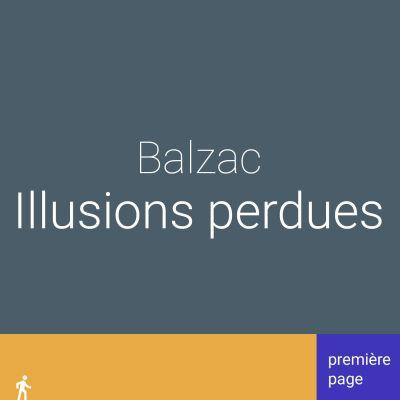 image Première page. Illusions perdues de Balzac