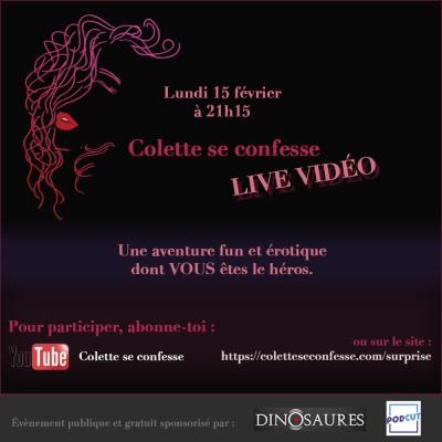 Annonce LIVE Colette se confesse - Rendez-vous lundi 15 février 2021 cover
