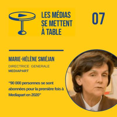 """Marie-Hélène Smiéjan (Mediapart): """"90 000 personnes ont payé pour la première fois Mediapart en 2020"""" cover"""