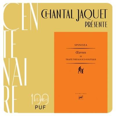 """Chantal Jaquet présente """"le traité théologico-politique"""" de Spinoza cover"""