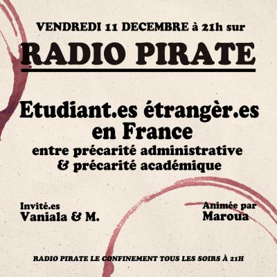 Radio Pirate  - On s'en bat PAS la race - Etudiant.es étrangèr.es en France - Emission du vendredi 11 décembre cover
