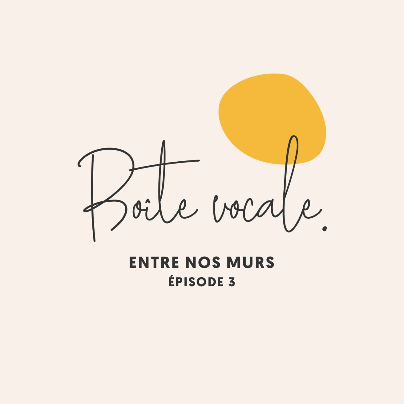 Boîte Vocale • Entre nos murs #03