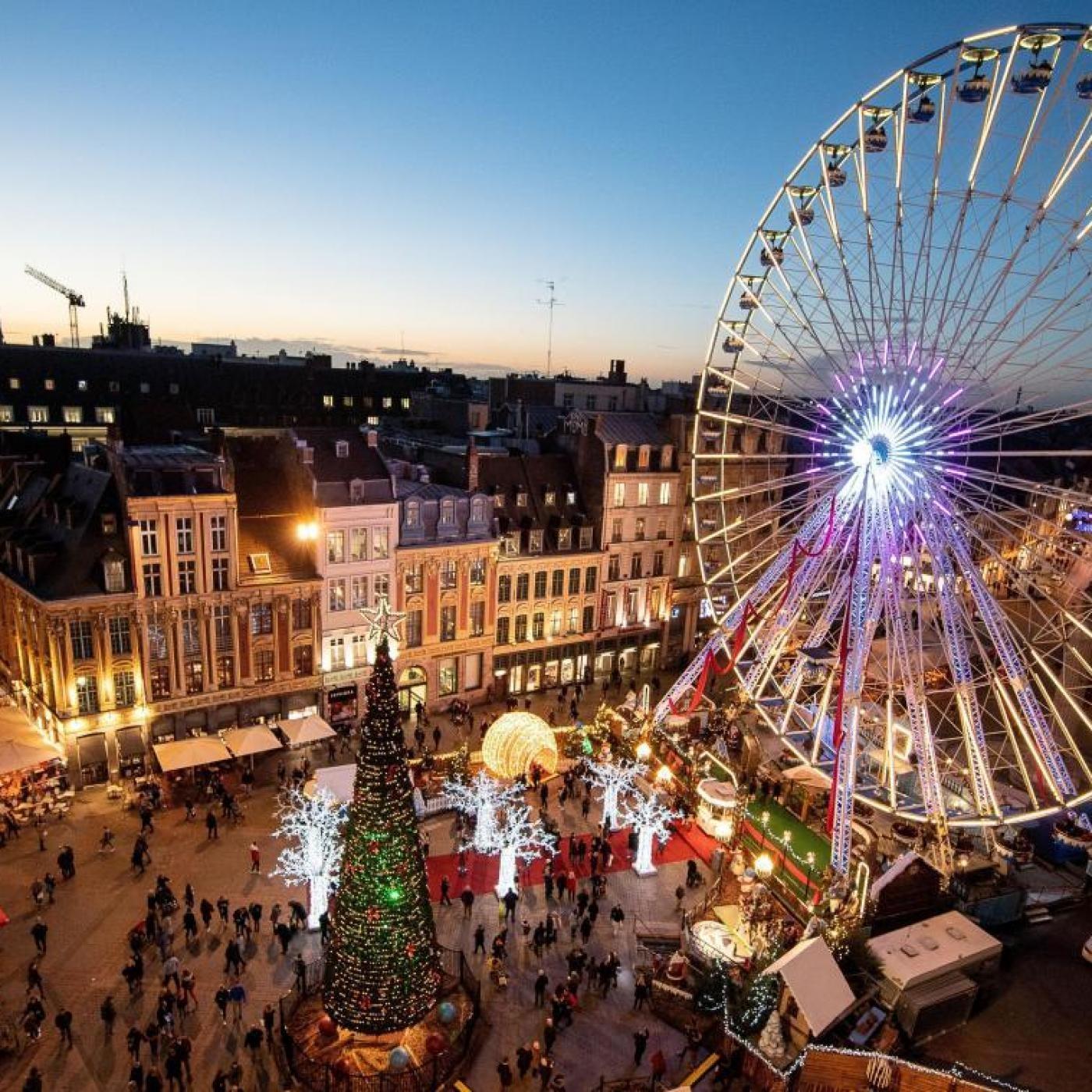 Emmanuel, journaliste La Voix du Nord : la Grande Roue de Noël vide... - Mercredi 2 décembre 2020
