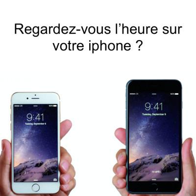 Regardez-vous l'heure sur votre iphone ? cover