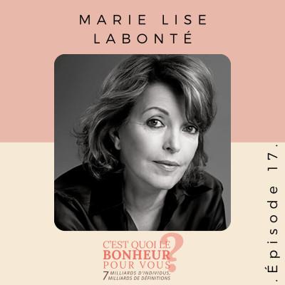 Épisode 17 - Marie Lise Labonté cover