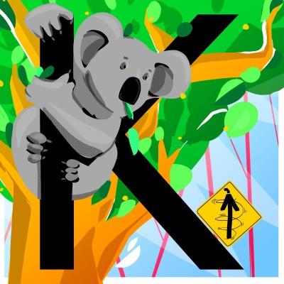 K. Koala heureux et Kangourou pressé cover